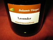Lavender balsamic vinegar